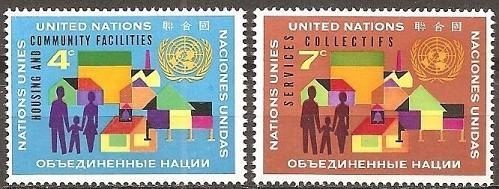 [UN0100] UN NY: Sc. No. 100-101 (1962) MNH Full Set