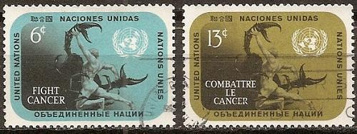[UN0207] UN NY: Sc. No. 207-208 (1970) Used Full Set