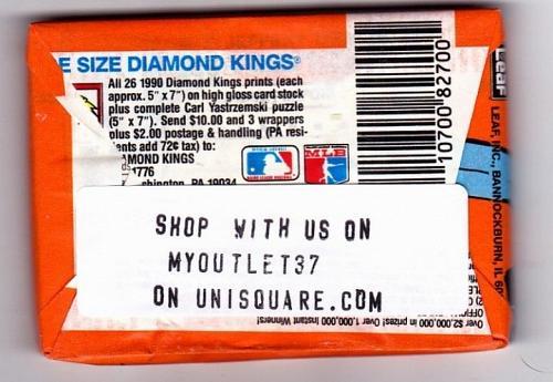 Donruss 1990 Baseball Cards Factory Sealed Pack