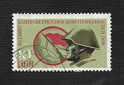 Germany DDR Used Scott #1487 Catalog Value $.25