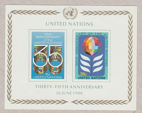 [UN0324] UN NY: Sc. No. 324 (1980) MNH Miniature Sheet