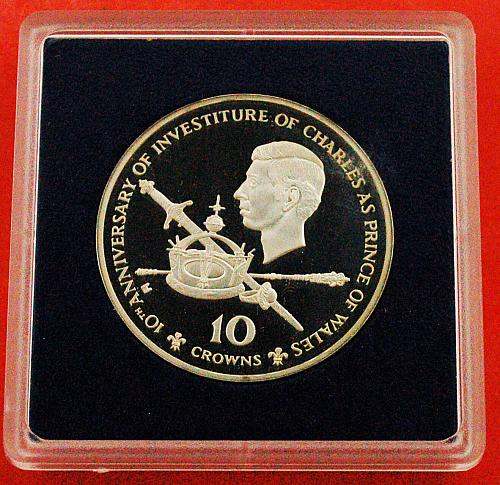 ★CHARLES INVESTITURE: TURKS AND CAICOS★10 CROWNS 1979! COA LOW START★NO RESERVE
