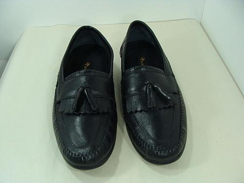 Stacy Adams Mens Black Leather Shoes Tassel Loafer Casual 10 W