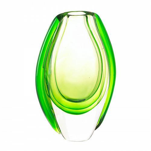 *17383U - Emerald Green Art Glass Accent Vase