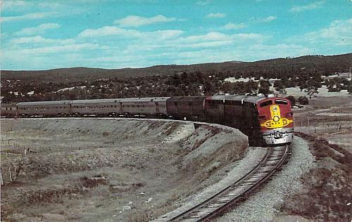 Santa Fe Streamliner Near Ribera New Mexico Vintage Postcard