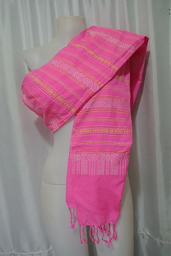 Laotian Jok Sabai Cotton Fabric Thai Lao Laos Textile Wrap Scarf Shawl SC53
