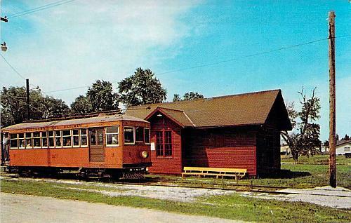 #9 Interurban Trolley Operated in Iowa Postcard