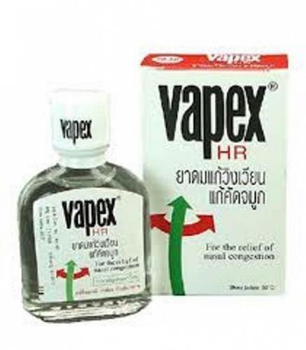 VAPEX HR RELIEF NASAL CONGESTION HEADACHE ITCH MENTHOL EUCALYPTUS OIL 5, 14 ML.