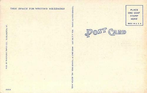 Main Street, Looking South, St. Albans, Vt. Linen Vintage Postcard