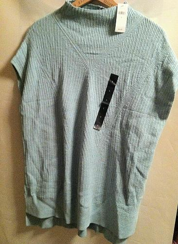 Banana Republic Women`s L Tunic Sweater Light Turquoise NWT 59.99 Retail