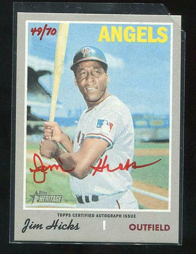 2019 TOPPS HERITAGE REAL ONE RED AUTO JIM HICKS, ROA-JHI
