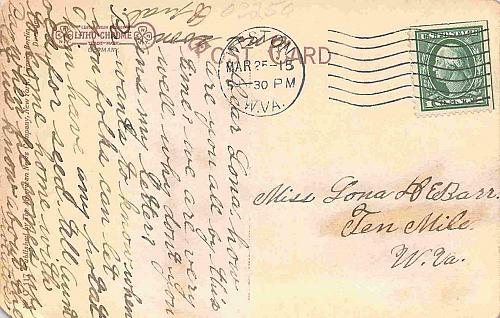 1907 Jamestown Textile Building, Arts and Crafts Vintage Postcard