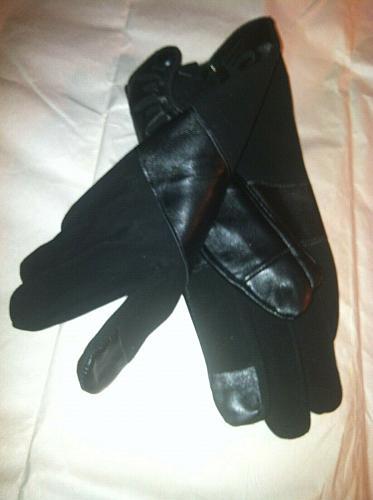 Lucky Brand Women`s Black Leather Moto Gloves Size S