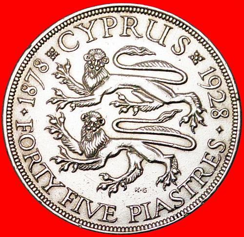 √ SILVER: CYPRUS ★ 45 PIASTRES 1878-1928! LOW START★NO RESERVE!