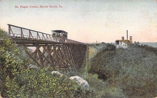 Mt. Pisgah Trestle, Mauch Chunk, PA Vintage Postcard