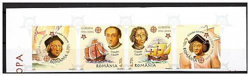ROMANIA 2005 EUROPA / SHIPS /COLUMBUS set MNH IMPERF.