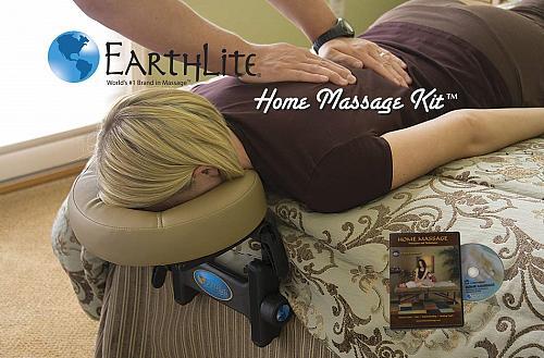 EARTHLITE Home Massage Kit - Deluxe Adjustable Headrest & Face Pillow / Home &