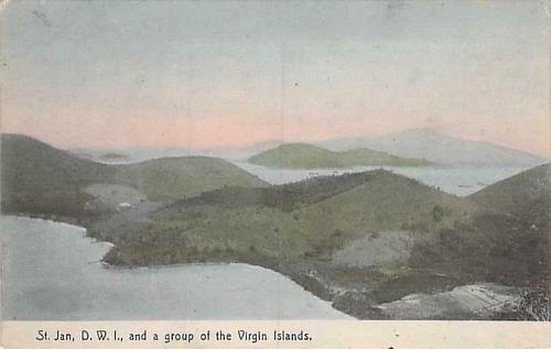St. Jan, D.W.I. and a Group of The Virgin Islands Vintage Postcard