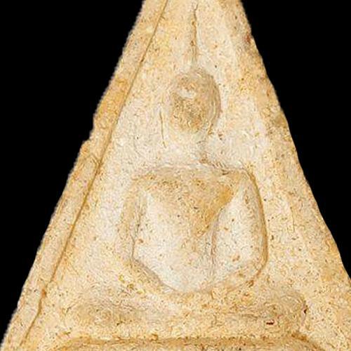 TRIANGLE PHRA SOMDEJ LP TOH WAT RAKANG POWERFUL MAGIC LUCK THAI BUDDHA AMULET