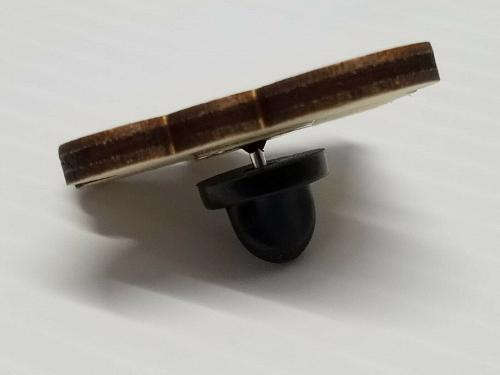 Laser Engraved Dalek Wood Hat Pin