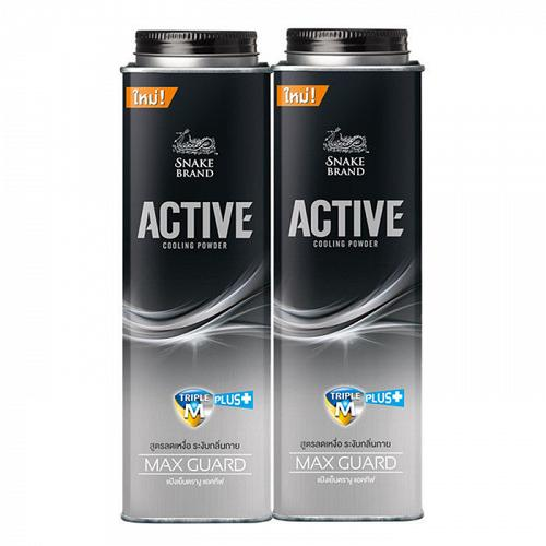 Snake Brand Active Cooling Body Powder Max Guard 280 grams Pack of 2