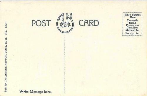 White Mts, NH. Mt. Agassiz Summit House, Bethlehem, PA Vintage Postcard