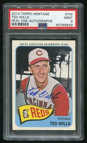 2014 TOPPS HERITAGE REAL ONE AUTO TED WILLS, PSA 9 MINT (40766859)