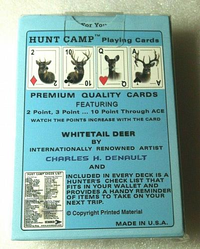 Charles H. Denault Hunt Game Playing Cards and A Hunters Check List