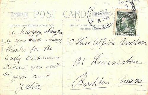 A Bright New Year Good Luck Swastikas in Corner Embossed Vintage Postcard