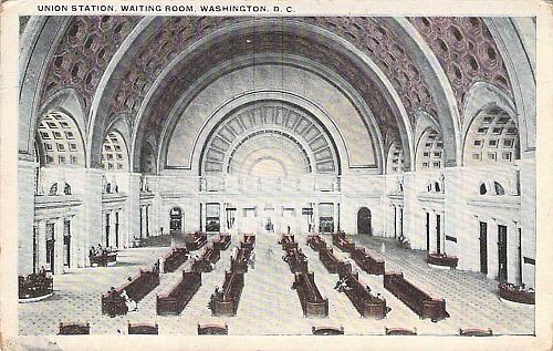 Union Station Waiting Room, Washington D.C. Vintage Postcard