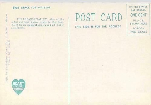 Lebanon Valley Trail, The Willow Lane with Cars, Bicycles Vintage Postcard