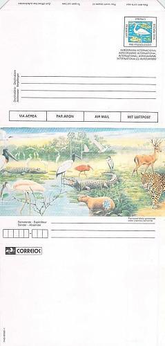 Brazil Aerogramme Mint Unused Partially Folded , Wild Animals
