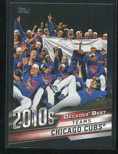 2020 TOPPS DECADES BEST BLACK CHICAGO CUBS, DB-83, 170/299
