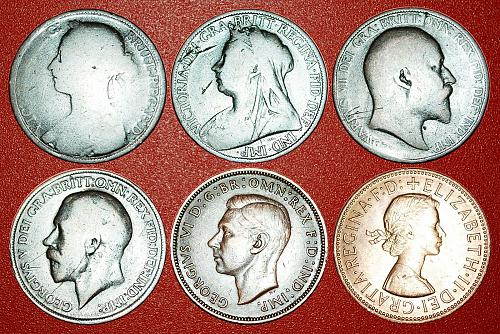 § PORTRAITS OF RULERS: UNITED KINGDOM ★ 1 PENNY 1889-1965! LOW START★NO RESERVE!