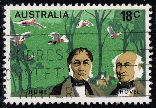 Australia #631 Hume and Hovell; Used (0.25) (4Stars) |AUS0631-02XBC