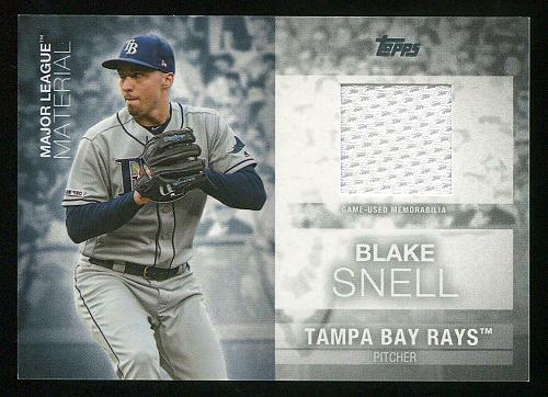 2020 TOPPS MAJOR LEAGUE MATERIALS BLAKE SNELL, MLM-BS