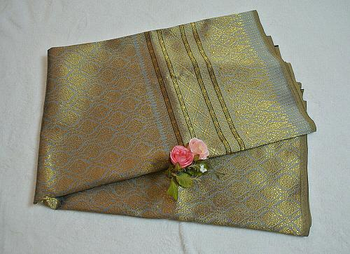 Luxurious Thailand Silk Silks synthetic yarns Fabric intricately Woven Motif