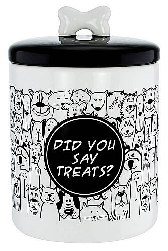 :10800U - Pet Treats Ceramic Airtight Canister -Did You Say Treats-