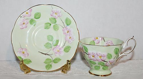 Vintage Royal Albert Evangeline Teacup & Saucer & Matching Candy Dish VGC