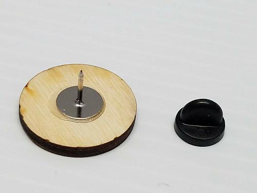Laser Engraved Black Panther Wood Hat Pin