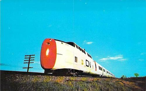 Canadian National's Sleek Engine Run Between Toronto and Montreal Postcard