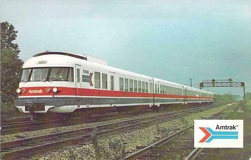 AmtraK's French Turbine Train Unused Vintage Postcard