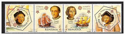 ROMANIA 2005 EUROPA / SHIPS /COLUMBUS set MNH