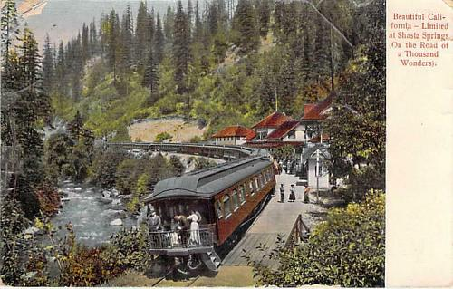 Beautiful California Limited at Shasta Springs Thousand Wonders Vintage Postcard