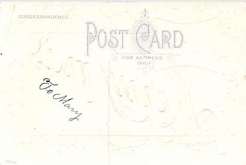 Merry Xmas From Horace Kansas Embossed Vintage Postcard