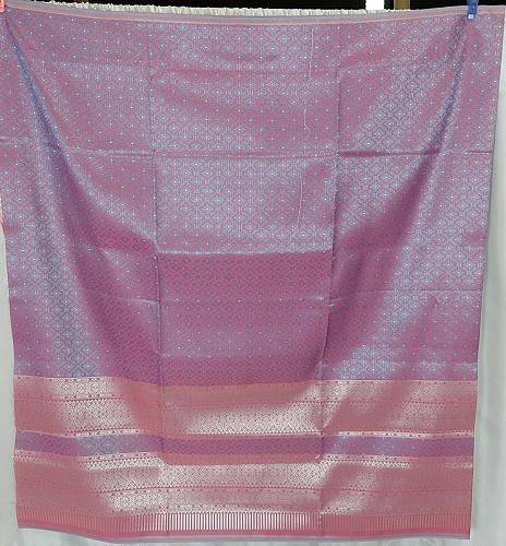 Thai Tradition Purple Synthetic Silk Fabric For Top Skirt Wedding dress