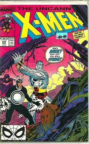 Uncanny X-men #248 VF+/NM- MARVEL COMICS 1989 1st series & print 1st Jim Lee