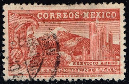 Mexico #C68 Eagle Man & Popocatepelt Volcano; Used (2Stars)  MEXC068-03XRS