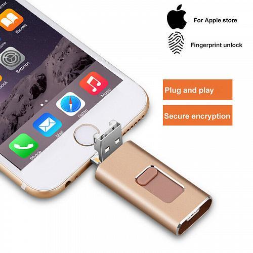 512GB 128GB New OTG Dual USB Memory i Flash Drive U Disk For IOS iPhone iPad/PC