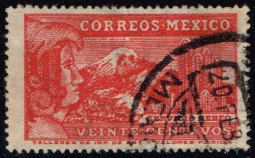 Mexico #C81 Eagle Man & Popocatepelt Volcano; Used (0.25) (1Stars) |MEXC081-04XRS